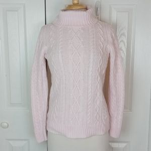 Croft & Barrow blush pink cable knit sweater